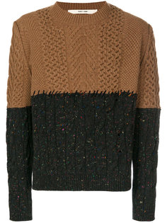 двухцветный свитер Damir Doma
