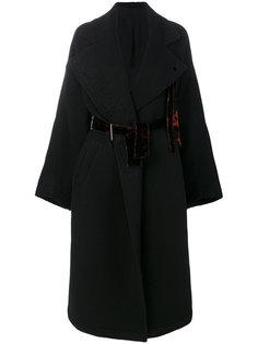 пальто с поясом  Damir Doma
