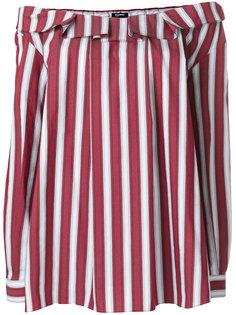 блузка в полоску с открытыми плечами  Jil Sander Navy