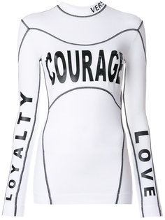 топ Courage Loyalty Love Versace