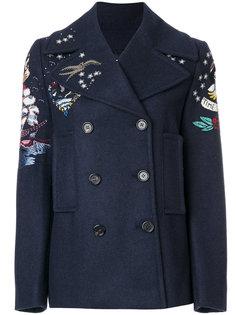 двубортный пиджак с принтом Valentino