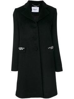 пальто с украшением из кристаллов Blugirl
