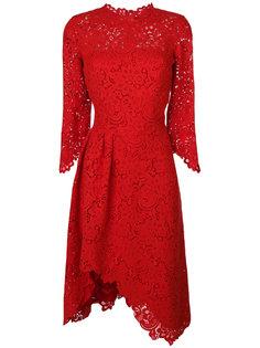 асимметричное кружевное платье с рукавами-колокол Ermanno Scervino