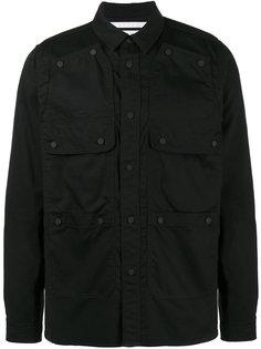 куртка рубашечного кроя с карманами Ox White Mountaineering