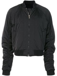 куртка-бомбер с заплаткой на спине D.Gnak