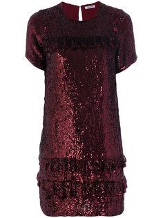 платье с пайетками и оборками P.A.R.O.S.H.