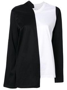асимметричная блузка колор блок  Marquesalmeida