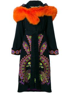 пальто с вышивкой и капюшоном Peacock Yuliya Magdych