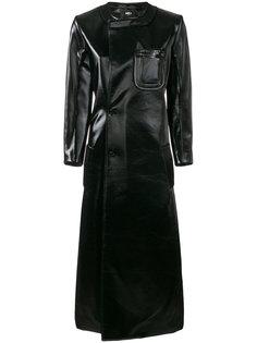 длинное пальто с нагрудным карманом Yang Li
