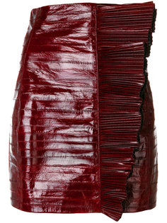 приталенная байкерская юбка Saint Laurent