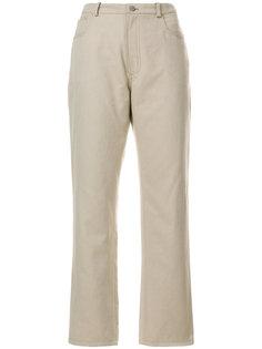 джинсы с кожаным карманом JW Anderson