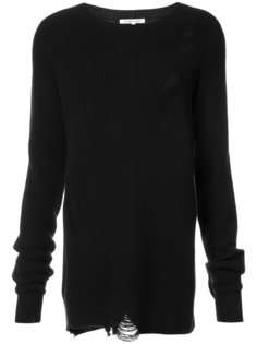 distressed crew neck sweater Helmut Lang
