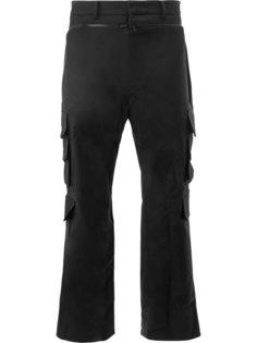 панельные брюки в тонкую полоску Juun.J
