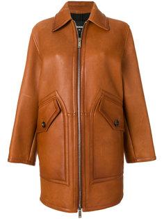 кожаное пальто на молнии Dsquared2