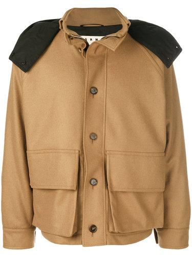 куртка с капюшоном в стиле милитари Marni