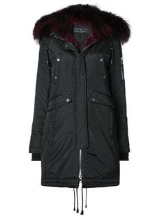 пальто с отрочкой лисьим мехом Brera Nicole Benisti