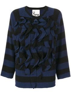 пуловер в полоску с оборками  8pm