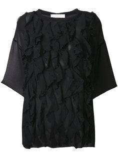 блузка с оборками и укороченными рукавами 8pm