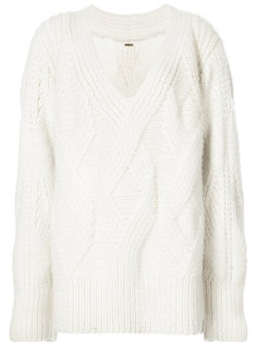 Hand knit cashmere cable sweater Adam Lippes