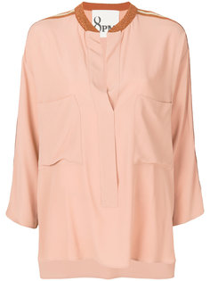 блузка с отделкой металлик  8pm