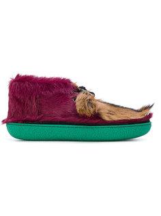 ботинки с меховой отделкой Prada