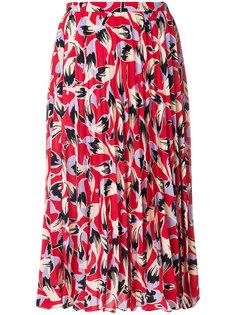 плиссированная юбка с узором Nº21