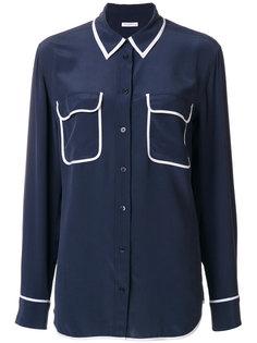блузка с контрастными карманами Equipment