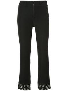 укороченные брюки с люверсами  Paco Rabanne