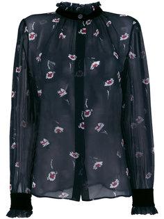 блузка с цветочным принтом  Armani Jeans