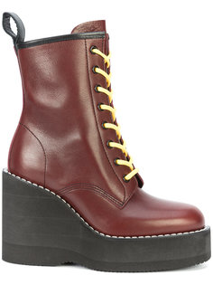 chunky wedge heeled boots Sacai