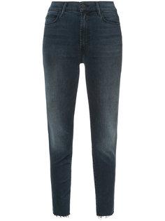 frayed stepped hem jeans Mother