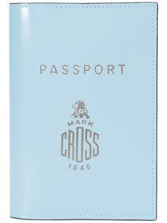 обложка для паспорта с логотипом Mark Cross