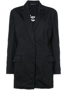 пиджак с присборенными рукавами Yohji Yamamoto