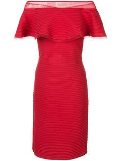 ruffle off-shoulder dress Tadashi Shoji