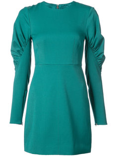 ruched panel sleeves fitted dress Tibi