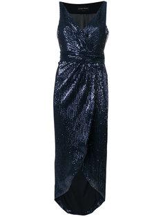 драпированное платье с пайетками Christian Pellizzari