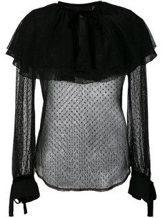 полупрозрачная блузка с оборкой  Christian Pellizzari