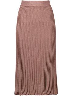 плиссированная юбка миди Prada