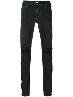 джинсы с прорезами на коленях Rta