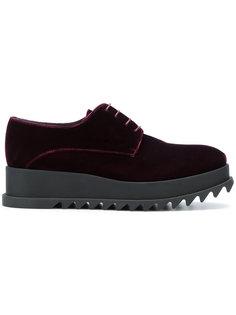 ботинки на рифленой подошве Jil Sander