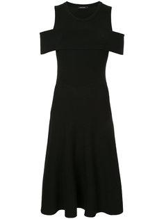 трикотажное платье с открытыми плечами Loveless
