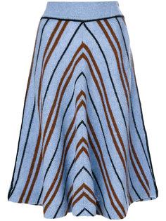 полосатая юбка-миди Miu Miu