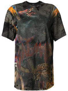 футболка свободного кроя с графическим принтом Balmain
