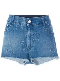 джинсовые шорты со звездами Stella McCartney
