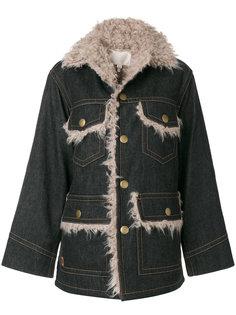 джинсовая куртка свободного кроя с карманами Marc Jacobs