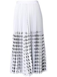 юбка в ломаную клетку с вырезом  MSGM