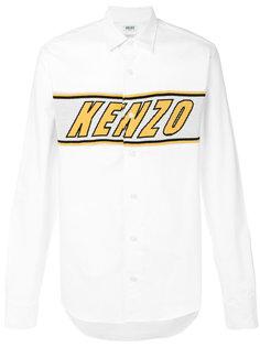 рубашка с вышивкой логотипа Kenzo
