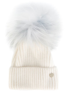 вязаная шапка со съемным помпоном Yves Salomon