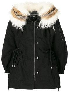 куртка со сборками на талии с лисьим мехом Ermanno Scervino