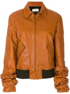 свободная куртка-бомбер Saint Laurent